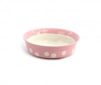 Růžová keramická miska pro psy a kočky vhodná na vodu i krmivo. Výběr velikostí pro všechna plemena, misku lze mýt v myčce. (4)