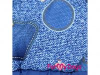 Obleček pro psy – teplý zimní overal BLUE DENIM FUR od For My Dogs z voduodpuzujícího materiálu. Jeansové kalhoty, kožešinová podšívka, zateplený sinteponem. (4)