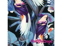 Obleček pro psy – teplý zimní overal BLUE FLOWERS od For My Dogs z voduodpuzujícího materiálu. Plyšová podšívka, zateplený sinteponem. (4)