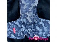 Obleček pro psy i fenky od FMD – zimní bunda CAPARISON BLUE z voduodpuzujícího materiálu. Bunda je zateplená sinteponem a má kožešinovou podšívku. (4)