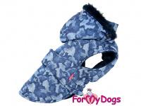 Obleček pro psy i fenky od FMD – zimní bunda CAPARISON BLUE z voduodpuzujícího materiálu. Bunda je zateplená sinteponem a má kožešinovou podšívku.