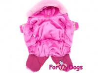Obleček pro fenky – lehoučký zimní overal CORAL od For My Dogs z voduodpuzujícího materiálu. Kožešinová podšívka, zateplený sinteponem. (2)