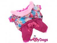 Obleček pro fenky – lehoučký zimní overal CORAL od For My Dogs z voduodpuzujícího materiálu. Kožešinová podšívka, zateplený sinteponem.