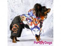 Obleček pro psy – sinteponem zateplený zimní overal DOGS od ForMyDogs. Vylepšené zapínání na zádech, odnímatelná kapuce, plyšová podšívka. (8)