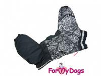 Obleček pro psy středních a větších plemen – zimní overal FIRE DEPT od ForMyDogs z voduodpudivého materiálu. Zapínání na zip na zádech, plyšová podšívka. (4)