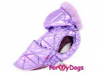 Obleček pro psy i fenky malých až středních plemen – zimní bunda LILIAC od ForMyDogs. Barva fialová.(2)