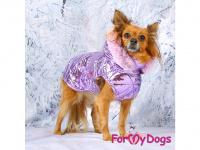 Obleček pro psy i fenky malých až středních plemen – zimní bunda LILIAC od ForMyDogs. Barva fialová. (FOTO 2)