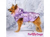 Obleček pro psy i fenky malých až středních plemen – zimní bunda LILIAC od ForMyDogs. Barva fialová. (FOTO 4)
