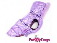 Obleček pro psy i fenky malých až středních plemen – zimní bunda LILIAC od ForMyDogs. Barva fialová.