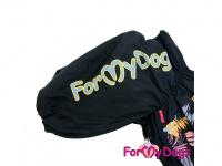 Obleček pro psy středních a větších plemen – zimní overal PALM LEAF od ForMyDogs z voduodpudivého materiálu. Zapínání na zip na zádech, plyšová podšívka. (3)