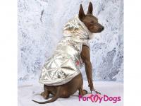 Obleček pro psy i fenky malých až středních plemen – zimní bunda SILVER od ForMyDogs. Barva stříbrná. (FOTO 4)