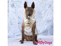 Obleček pro psy i fenky malých až středních plemen – zimní bunda SILVER od ForMyDogs. Barva stříbrná. (FOTO 6)