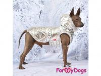 Obleček pro psy i fenky malých až středních plemen – zimní bunda SILVER od ForMyDogs. Barva stříbrná. (FOTO 10)