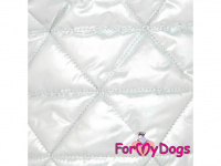 Obleček pro psy i fenky malých až středních plemen – zimní bunda SILVER od ForMyDogs. Barva stříbrná. (4)