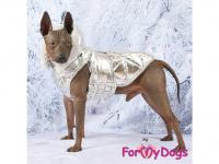 Obleček pro psy i fenky malých až středních plemen – zimní bunda SILVER od ForMyDogs. Barva stříbrná. (FOTO 2)