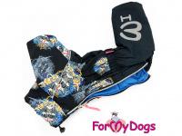 Obleček pro psy – sinteponem zateplený zimní overal SKULL od ForMyDogs. Vylepšené zapínání na zádech, odnímatelná kapuce, hedvábná podšívka. (5)