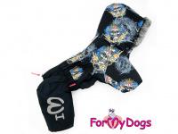 Obleček pro psy – sinteponem zateplený zimní overal SKULL od ForMyDogs. Vylepšené zapínání na zádech, odnímatelná kapuce, hedvábná podšívka. (3)