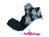 Obleček pro psy – sinteponem zateplený zimní overal SKULL od ForMyDogs. Vylepšené zapínání na zádech, odnímatelná kapuce, hedvábná podšívka. (4)