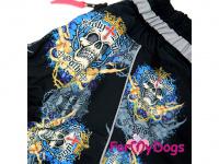 Obleček pro psy středních a větších plemen – zimní overal SKULL od ForMyDogs z voduodpudivého materiálu. Zapínání na zip na zádech, plyšová podšívka. (3)