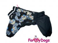 Obleček pro psy středních a větších plemen – zimní overal SKULL od ForMyDogs z voduodpudivého materiálu. Zapínání na zip na zádech, plyšová podšívka. (4)
