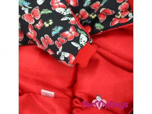 Obleček pro fenky– teplý zimní overal s motýly (2)