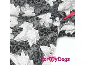 Obleček pro fenky – šedý overal z měkoučké pleteniny (2)