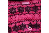 Obleček pro fenky – teplý zimní overal PINK SNOWFLAKE od ForMyDogs z voduodpuzujícího materiálu s kožešinovou podšívkou. Zapínání na druky na bříšku, barva růžová. (4)
