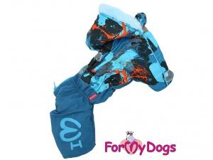 Modrý zimní obleček pro psy (2)