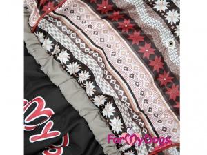Obleček pro psy – hnědý zimní overal od FMD (2)