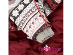 Obleček pro psy – hnědý zimní overal od FMD (3)
