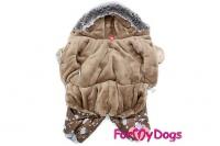 Obleček pro psy – teplý zimní overal METALLIC od ForMyDogs z voduodpuzujícího materiálu s kožešinovou podšívkou. Zapínání na druky na bříšku (2).
