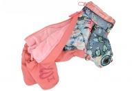 Obleček pro fenky – teplý zimní overal PATCHWORK od ForMyDogs. Vylepšené zapínání na zádech, odnímatelná kapuce, rukávy s vnitřní manžetou (4).