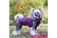 Obleček pro psy i fenky od FMD – teplá zimní bunda VIOLET z voduodpuzujícího materiálu. Bunda je zateplená sinteponem a má hedvábnou podšívku. (foto 3)