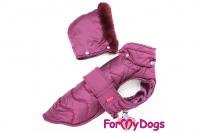 Obleček pro psy i fenky od FMD – teplá zimní bunda VIOLET z voduodpuzujícího materiálu. Bunda je zateplená sinteponem a má hedvábnou podšívku. (2)