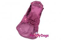 Obleček pro psy i fenky od FMD – teplá zimní bunda VIOLET z voduodpuzujícího materiálu. Bunda je zateplená sinteponem a má hedvábnou podšívku.  (3)