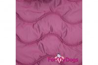 Obleček pro psy i fenky od FMD – teplá zimní bunda VIOLET z voduodpuzujícího materiálu. Bunda je zateplená sinteponem a má hedvábnou podšívku. (4)
