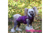 Obleček pro psy i fenky od FMD – teplá zimní bunda VIOLET z voduodpuzujícího materiálu. Bunda je zateplená sinteponem a má hedvábnou podšívku. (foto 1)