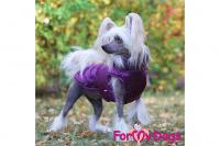 Obleček pro psy i fenky od FMD – teplá zimní bunda VIOLET z voduodpuzujícího materiálu. Bunda je zateplená sinteponem a má hedvábnou podšívku. (foto 2)