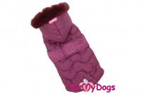 Obleček pro psy i fenky od FMD – teplá zimní bunda VIOLET z voduodpuzujícího materiálu. Bunda je zateplená sinteponem a má hedvábnou podšívku.