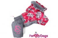 Obleček pro fenky – teplý zimní overal FOX od ForMyDogs. Kožešinová podšívka, vylepšené zapínání na zádech, odnímatelná kapuce, rukávy s vnitřní manžetou (3).