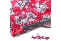 Obleček pro fenky – teplý zimní overal FOX od ForMyDogs. Kožešinová podšívka, vylepšené zapínání na zádech, odnímatelná kapuce, rukávy s vnitřní manžetou (5).