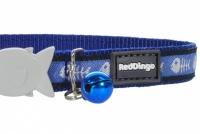 Modrý obojek pro kočky z kvalitního nylonu s bezpečnostní plastovou sponou Fish Clip (3).