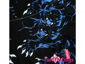 Obleček pro psy i fenky – overal TIGER BLACK, detail