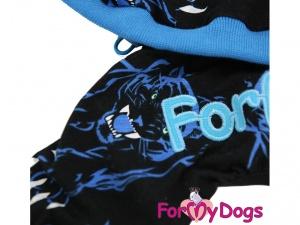 Obleček pro psy i fenky – overal TIGER BLACK, detail (2)