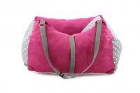 Růžová autosedačka pro psy – pelíšek pro pohodlné cestování a ochranu autosedadel před psími chlupy, nečistotami a poškozením. (5)