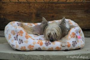 FOTO – Plyšový pelíšek pro psy od For My Dogs. Měkoučké bočnice, nadýchaný vyjímatelný polštář, celý pelíšek je vyrobený z plyšového flísu. Barva béžová (4).