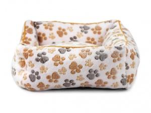 Luxusní béžový pelíšek pro psy od FMD vhodný pro malá až střední plemena psů (2)