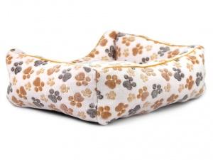 Luxusní béžový pelíšek pro psy od FMD vhodný pro malá až střední plemena psů (3)