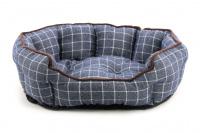 Pelíšek pro psy ROSEWOOD dostupný v několika velikostech. Pevný prošívaný materiál, měkké nadýchané bočnice, barva modrá. (3)