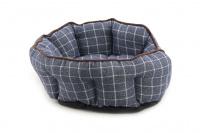 Pelíšek pro psy ROSEWOOD dostupný v několika velikostech. Pevný prošívaný materiál, měkké nadýchané bočnice, barva modrá. (5)